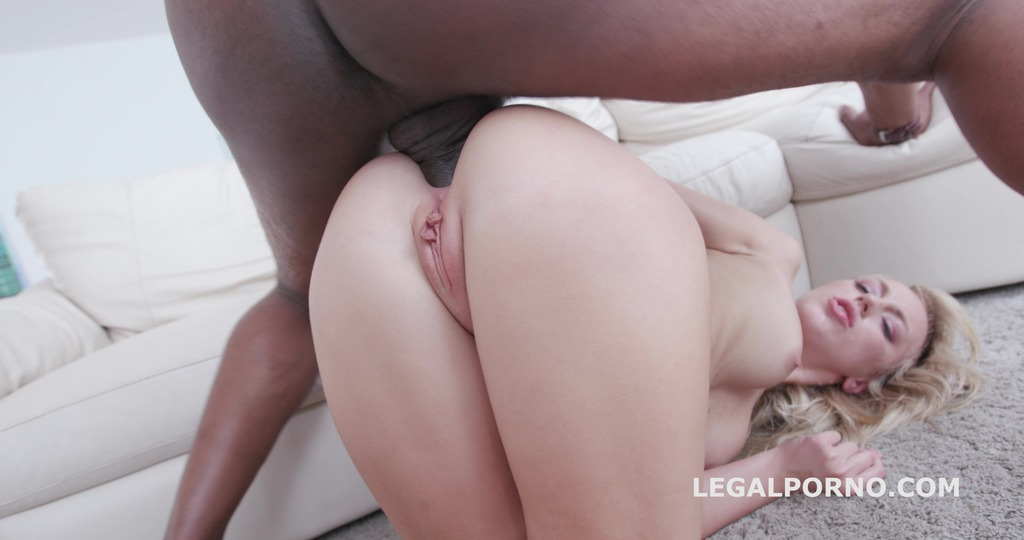 7on1 BBC GangBang, Kira gets her dream: only black guys and only in the ass...