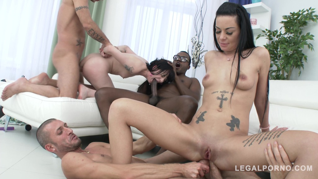 Inga Devil & Charlotte Sartre in hardcore orgy with DP & DAP SZ1540