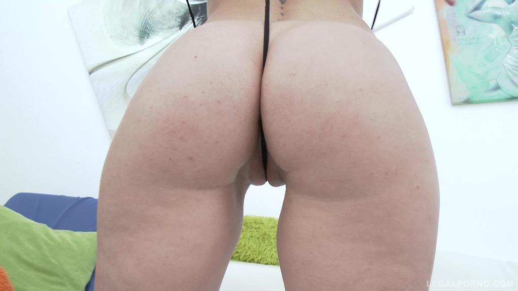 Sasha Zima 100% double anal for amazingly perfect round ass (0% pussy DAP)...